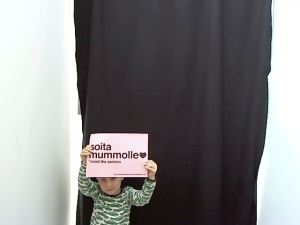 Photobooth photo from Soita Mummolle installation in MoA 2011